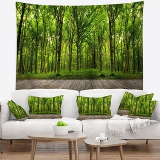 Designart 'Room Interior in Forest' Landscape Wall Tapestry