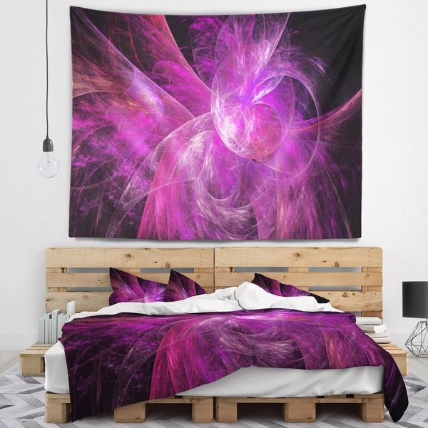 Designart 'Purple Fractal Abstract Illustration' Abstract Wall Tapestry