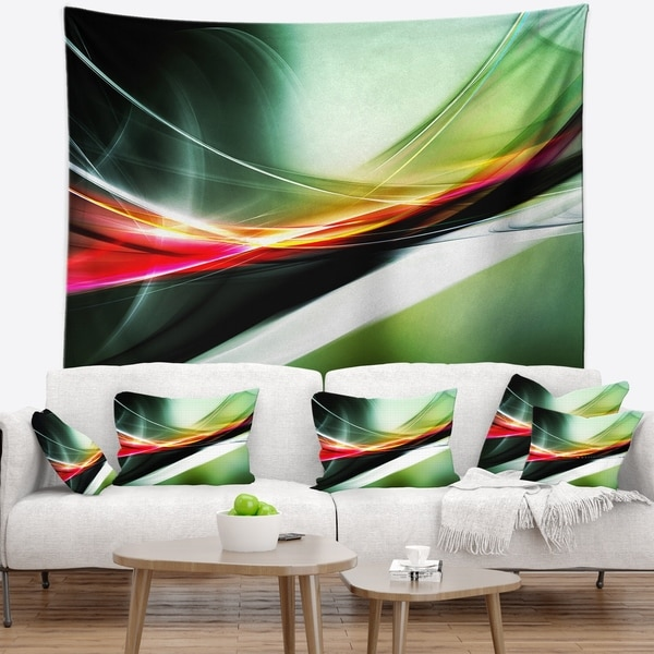 Designart 'Elegant Color Pattern' Abstract Wall Tapestry