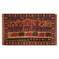 Handmade Herat Oriental Afghan Hand-knotted Wool War Rug (2'9 x 4'8)