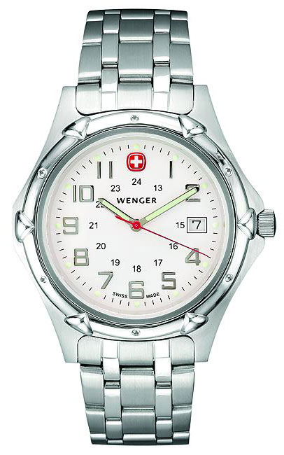Wenger Silver Standard Issue XL Quartz Watch with Military Time