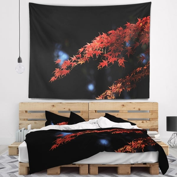 Designart 'Fall Foliage of Maple Leaves' Abstract Wall Tapestry