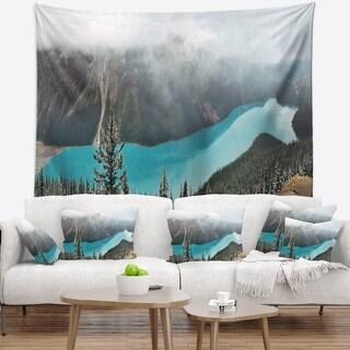 Designart 'Beautiful Petyo Lake Panorama' Landscape Wall Tapestry