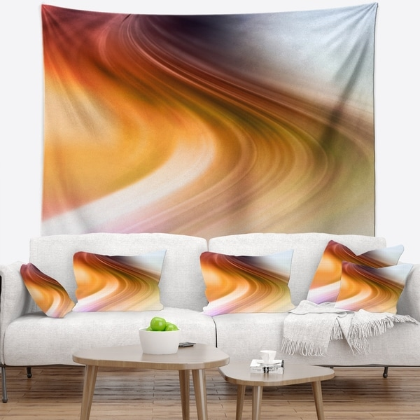 Designart 'Rays of Speed Green Orange' Abstract Wall Tapestry