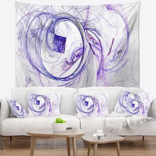 Designart 'Billowing Smoke Blue' Abstract Wall Tapestry