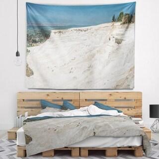 Designart 'Panoramic View of Pammukale' Modern Seascape Wall Tapestry