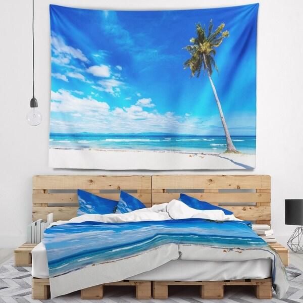 Designart 'Calm Summer Vacation Beach Philippines' Modern Seascape Wall Tapestry
