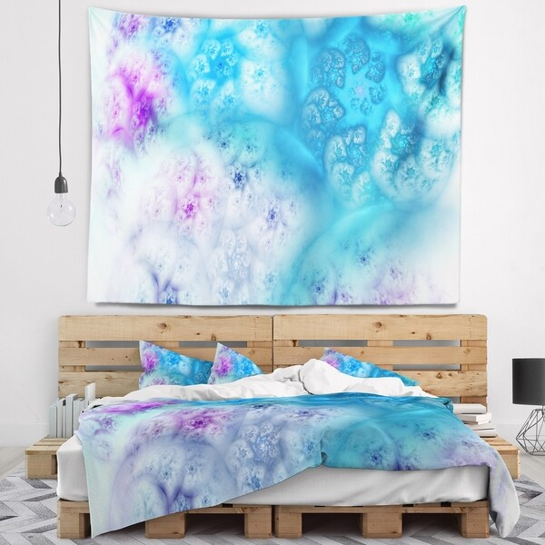Designart 'Clear Blue Magic Stormy Sky' Abstract Wall Tapestry