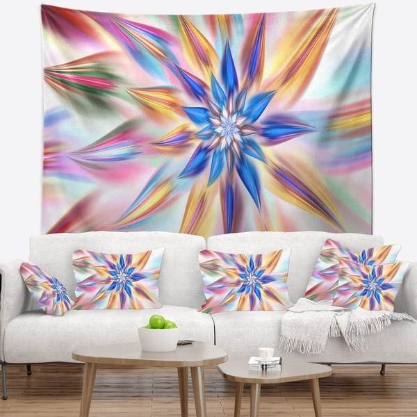 Designart 'Exotic Dance of Multi Color Petals' Floral Wall Tapestry