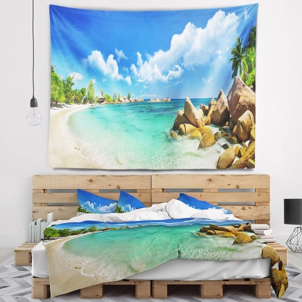 Designart 'Seychelles Islands Panorama' Landscape Photography Wall Tapestry