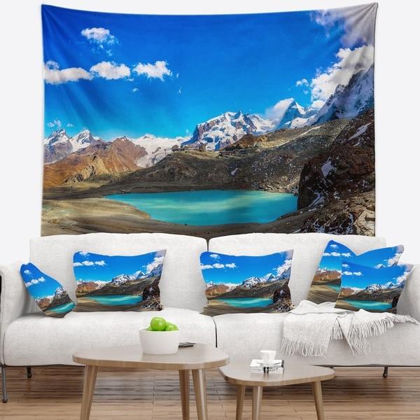 Designart 'Alps Mountain Fountain' Photography Wall Tapestry