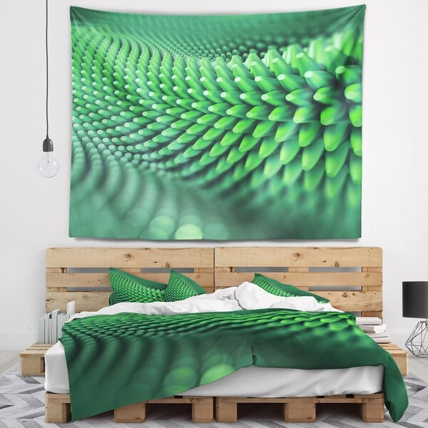 Designart 'Abstract 3D Spiny Background' Abstract Wall Tapestry