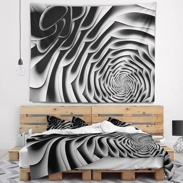 Designart 'White Flower Shaped Fractal Art' Abstract Wall Tapestry