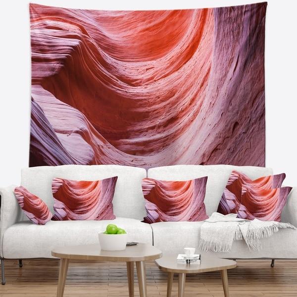 Designart 'Antelope Canyon Purple Wall' Landscape Photography Wall Tapestry