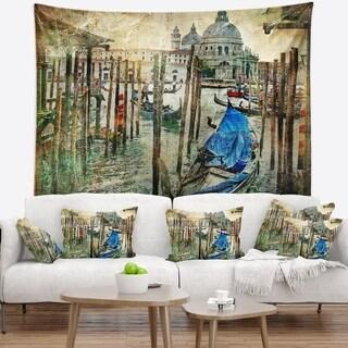 Designart 'Beautiful Venice' Landscape Wall Tapestry