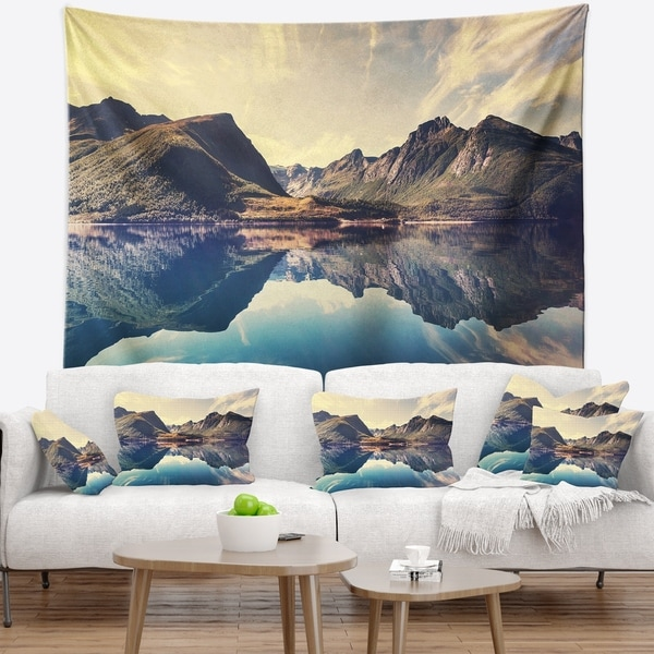 Designart 'Norway Summer Mountains' Landscape Photography Wall Tapestry