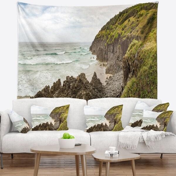 Designart 'Crescent Head Coastline in Australia' Landscape Wall Tapestry