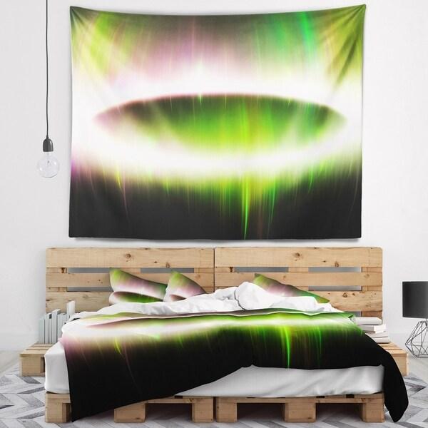 Designart 'Beautiful Green Northern Lights' Abstract Wall Tapestry