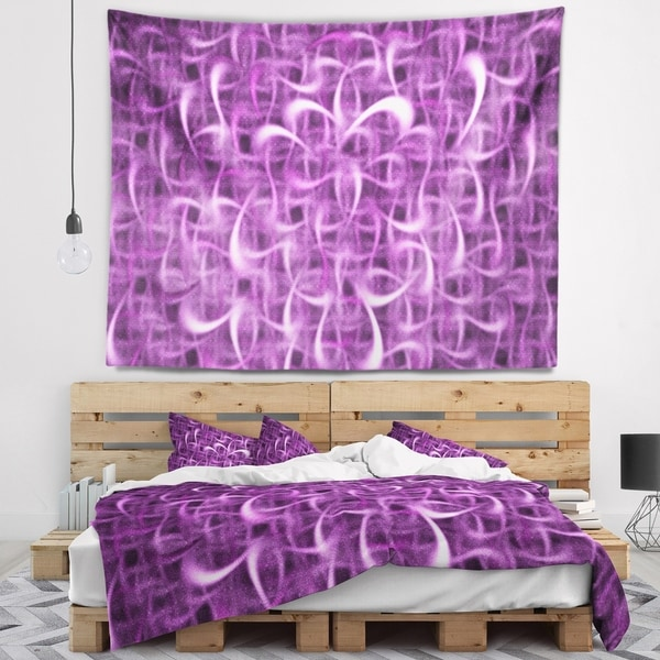 Designart 'Purple Watercolor Fractal Pattern' Abstract Wall Tapestry