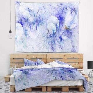 Designart 'Light Blue Fractal Glass Texture' Abstract Wall Tapestry