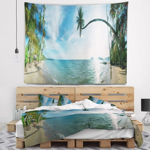 Designart 'Tropical Beach Panorama' Photography Wall Tapestry