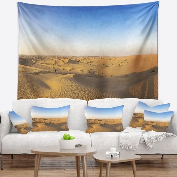 Designart 'Sand Dunes Desert in Dubai' Landscape Wall Tapestry