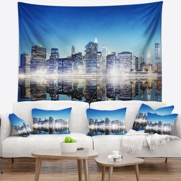 Designart 'Skyscraper on New York City' Cityscape Wall Tapestry