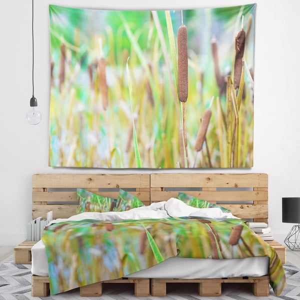 Designart 'The Reeds' Landscape Photography Wall Tapestry