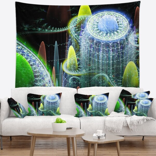 Designart 'World of Infinite Fractal Universe' Abstract Wall Tapestry
