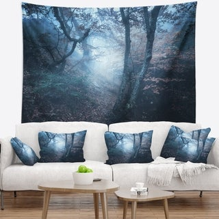 Designart 'Beautiful Autumn in Forest' Landscape Photography Wall Tapestry