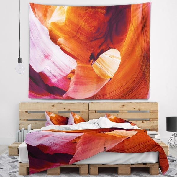 Designart 'Antelope Canyon USA' Landscape Photo Wall Tapestry