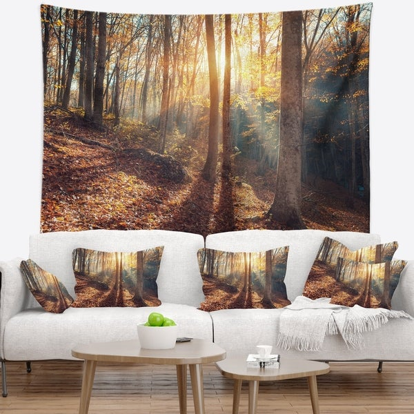 Designart 'Crimean Mountains Autumn' Landscape Photography Wall Tapestry