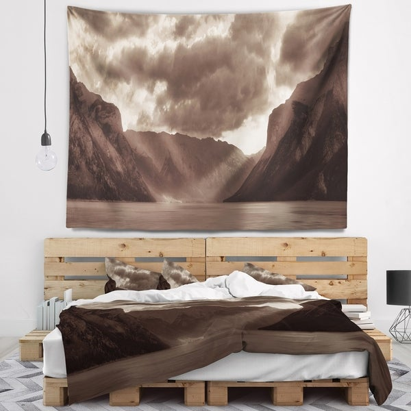Designart 'Banff National Park Panoramic View' Landscape Wall Tapestry