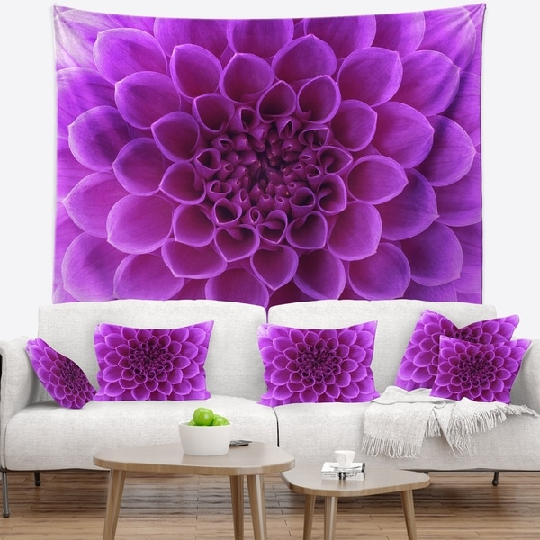 Designart 'Light Purple Abstract Flower Petals' Floral Wall Tapestry