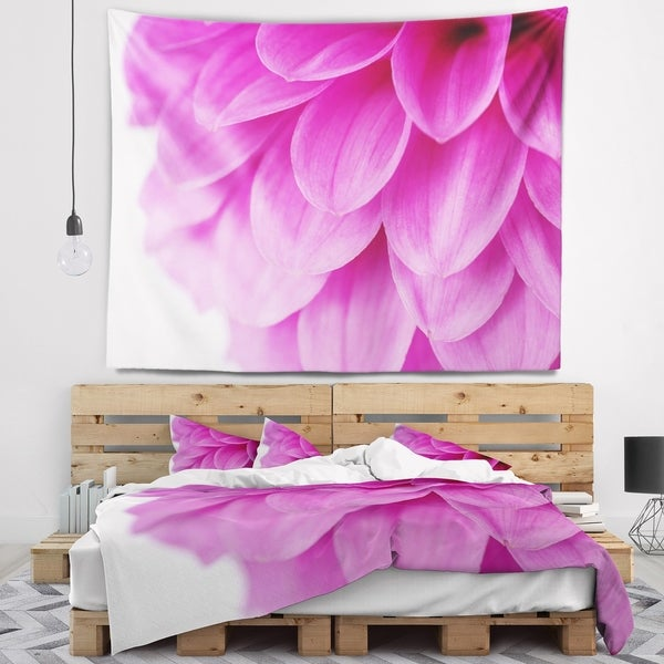 Designart 'Soft Purple Abstract Flower Petals' Floral Wall Tapestry