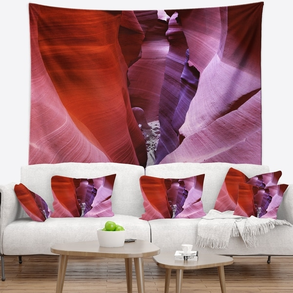 Designart 'Purple Antelope Canyon View' Landscape Photography Wall Tapestry