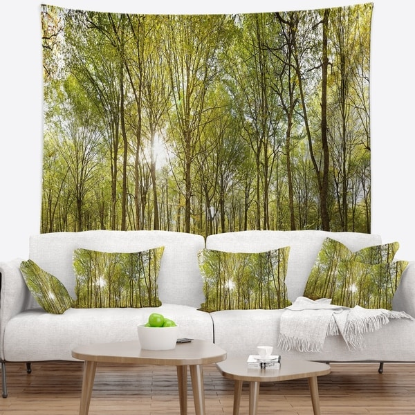 Designart 'Green Forest Panoramic View' Landscape Photography Wall Tapestry