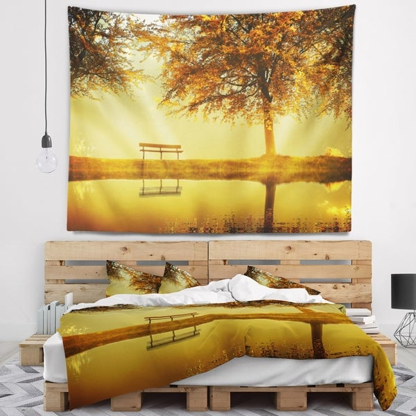 Designart 'Golden Planet' Landscape Photography Wall Tapestry