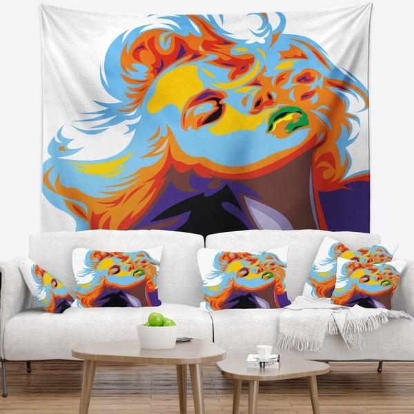 Designart 'Blonde Girl Art' Vector Wall Tapestry