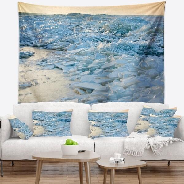 Designart 'Baltic Sea Winter Landscape' Landscape Wall Tapestry