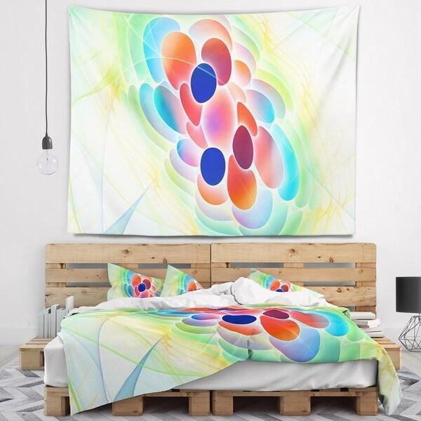 Designart 'Fractal Virus under Microscope' Abstract Wall Tapestry