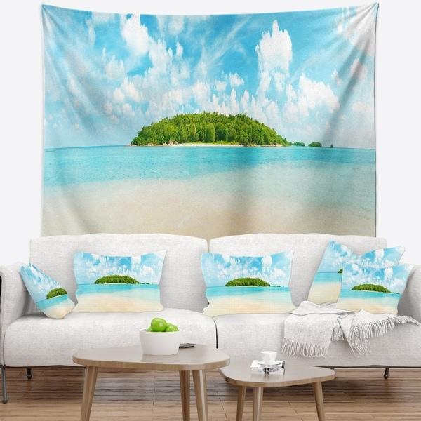 Designart 'Tropical Island Panorama' Photography Wall Tapestry