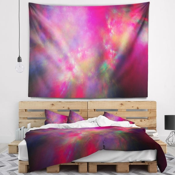 Designart 'Perfect Red Starry Sky' Abstract Wall Tapestry