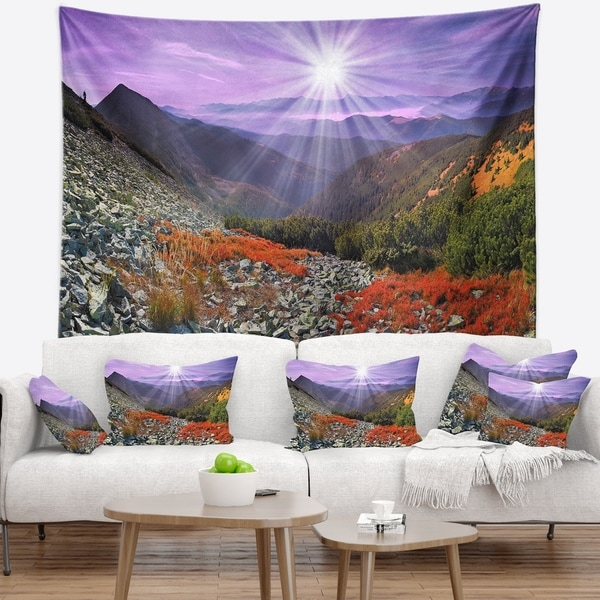 Designart 'Rocky and Colorful Carpathian' Landscape Photo Wall Tapestry