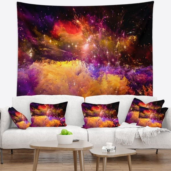 Designart 'Universe Fractal Burst' Abstract Wall Tapestry
