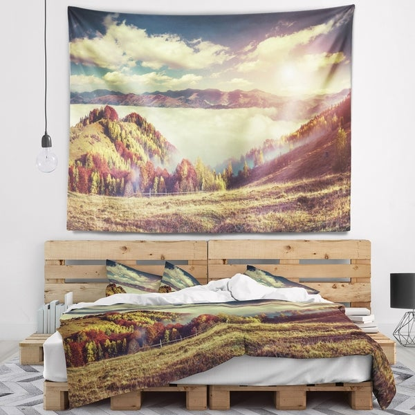Designart 'Autumn Panorama of Mountains' Photography Wall Tapestry