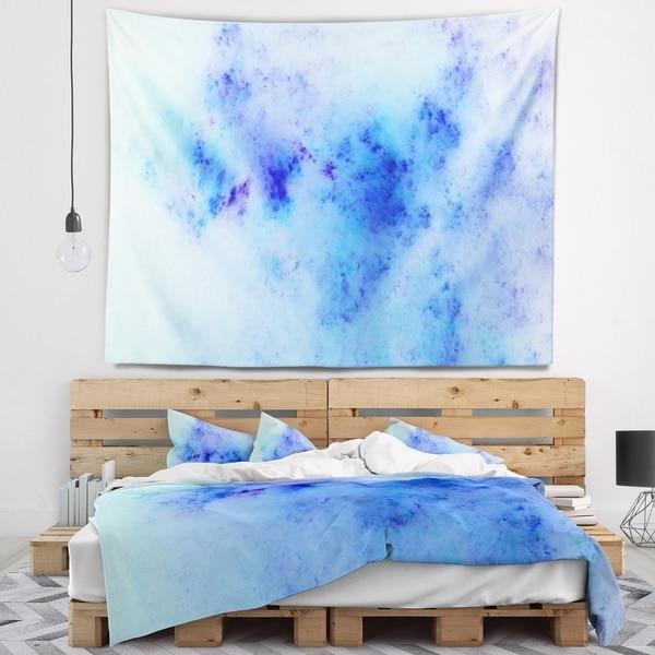 Designart 'Light Blue Starry Fractal Sky' Abstract Wall Tapestry