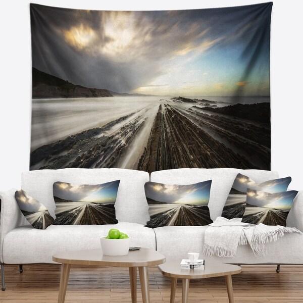 Designart 'Surreal Atlantic Ocean Coast' Seashore Photo Wall Tapestry