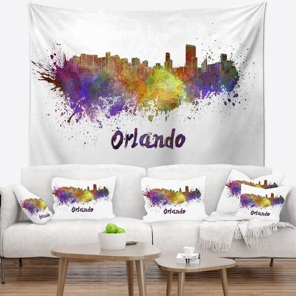 Designart 'Orlando Skyline' Cityscape Wall Tapestry