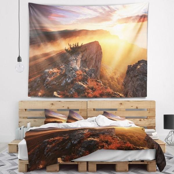 Designart 'Sunrise in Ai Petri Mountains' Landscape Photo Wall Tapestry